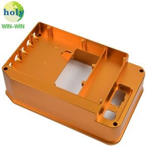 Auto CNC Machining Precision Parts OEM Aluminum Gold Anodized Housing Parts