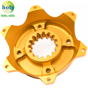 Gold Anodizing Aluminum CNC Milling Parts Rear Brake Disk Hub