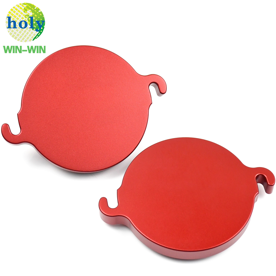 Glossy Red Anodized Aluminum Printing Machine Lid CNC Machining Parts